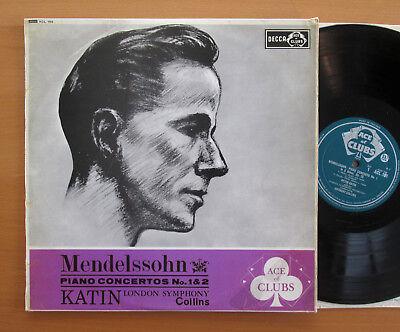 ACL 169 Mendelssohn Piano Concertos 1 & 2 Katin Collins EXCELLENT Decca Mono Gvd
