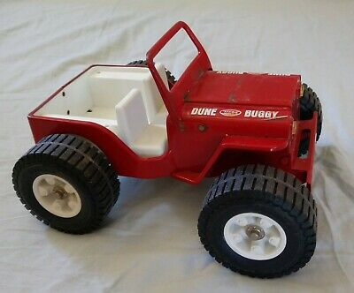Vintage Tonka Dune Buggy Jeep Red Metal Toy Collectible