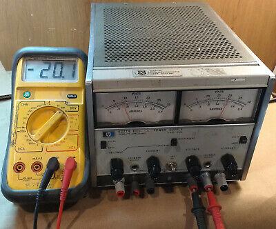 Hp 6227b Dual Dc Power Supply 025v 0-2a