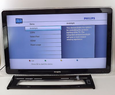 """Philips TV Model 42PFL7603D/27 42"""" LCD HDTV TV-Wall-Mounted & Remote VGUC"""