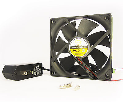 120mm 25mm Case Fan Kit 110V 115V 120V AC 124CFM Ball Brg PC Cooling 12525 1350*