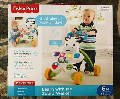 Fisher Price Zebra Walker NEW Infant Toddler 6 Months