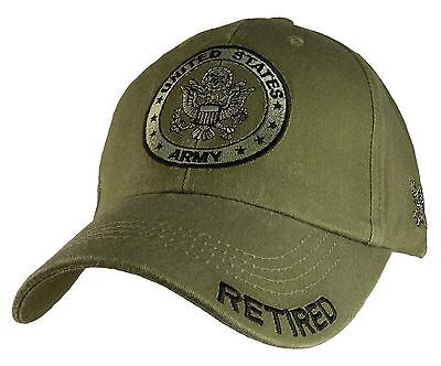 US ARMY RETIRED - U.S. Army with Army Seal Officially