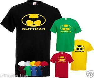 BUTTMAN-T-SHIRT-COLOUR-CUSTOM-TSHIRT-BATMAN-PARODY-S-XXXL