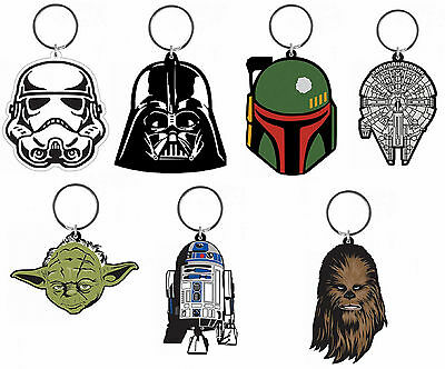 Official Star Wars Rubber Keychain Key ring Keyring Brand New Novelty Gift](Star Wars Novelty Gifts)
