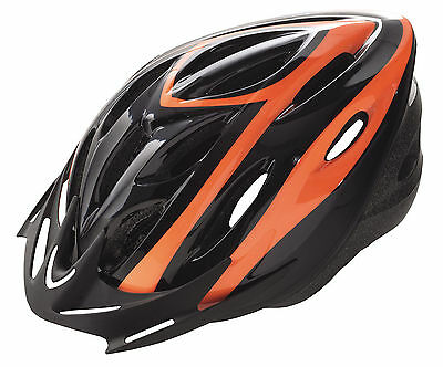 Casco de Ciclismo Deportivo Negro Naranja para Bicicleta Carretera MTB T M...