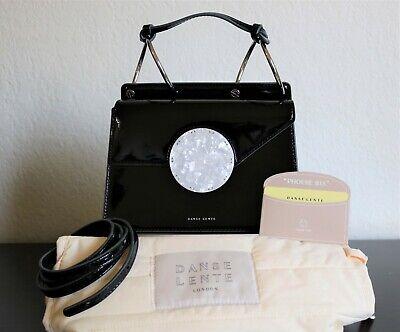 Danse Lente Phoebe Bis Crossbody Patent Leather Black Handbag Purse NWT $495