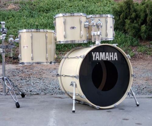 Yamaha Recording Custom 4 Piece Drum Kit Vintage Japan 24, 12, 13, 16
