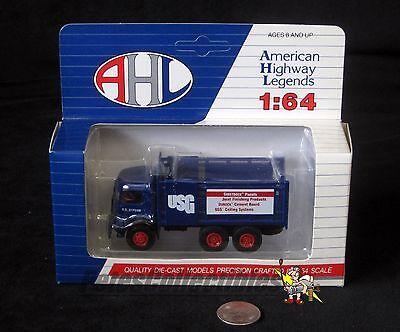 Ahl American Highway Legends Usg Cj Mack  Diecast Truck 1 64 Us Gypsum