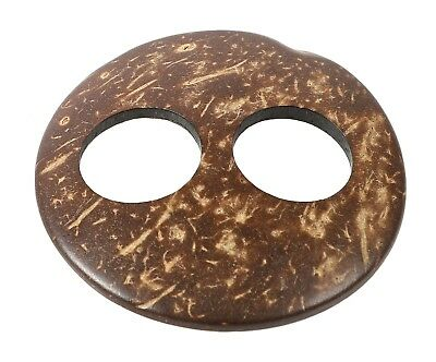Pareo Buckle, Natural Coconut - Round