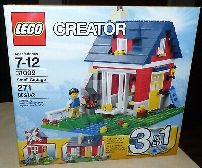 NEW Lego Creator SMALL COTTAGE Set #31009 3-in-1 Windmill Factory Sealed NIB