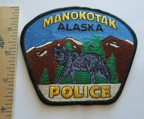 MANOKOTAK ALASKA POLICE PATCH Vintage Original