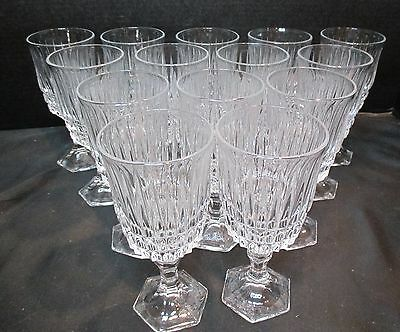 "Fostoria Lead Crystal Heritage Set of 14 Wine Goblets 6 1/8"" Tall"