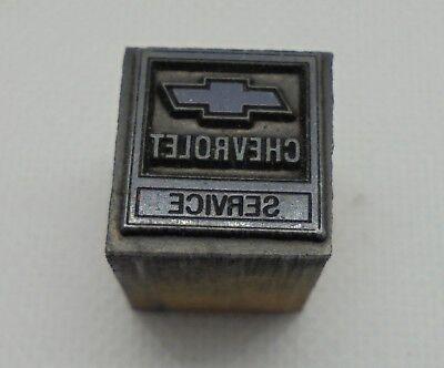 Vintage Printing Letterpress Printers Block Chevrolet Service