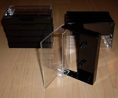 10 Kassettenhüllen Leerhüllen für Cassetten MCs Hüllen schwarz Kassetten Neu