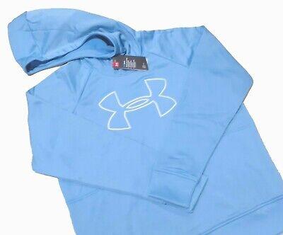 UNDER ARMOUR UA BIG LOGO SWEATSHIRT Hoodie 1318396-485 PO WOMENS XL BLUE