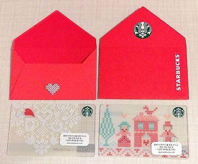 Starbucks Korea 2015 Valentine Day Card Set with Matching Sleeve