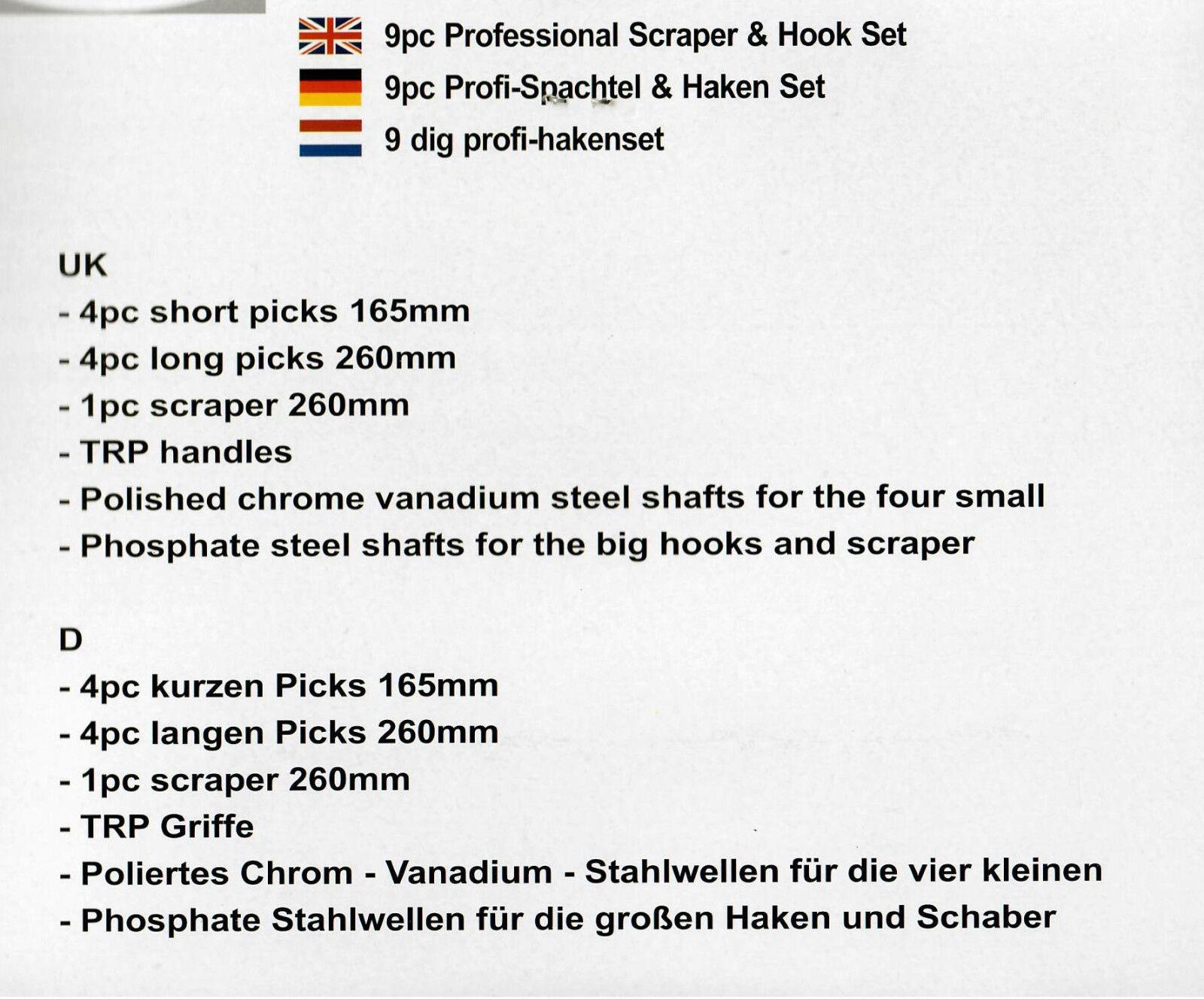 Universal Nadel Haken Satz 9-tlg Nadeln Schaber Werkzeug Werkstatt Satz BGS