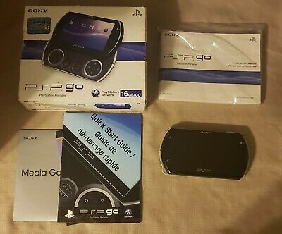 PSP GO Black Console System in box with manual (Sony PlayStation Portable)