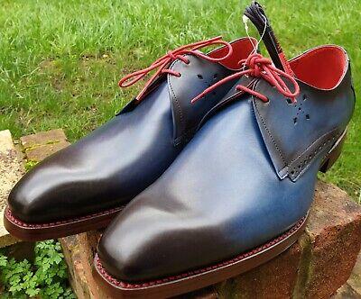 Jeffery West Shoe Mancha Floyd Shadow Gibson UK 9 Goodyear DiamondSole Cian Blue