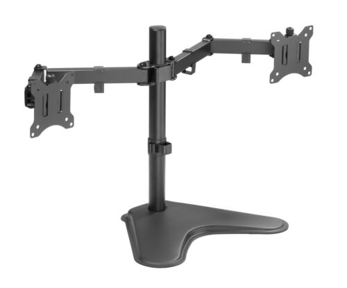 """Dual Monitor LED LCD TV Swivel Desk Mount Stand 21 22 23 24 26 27 28 29 30 32"""""""