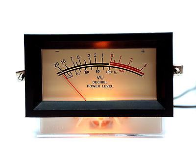 1pc Sd-740 -b Panel Vu Meter Frame If500ua 650 12v Amber Lamp Sd Flashstar
