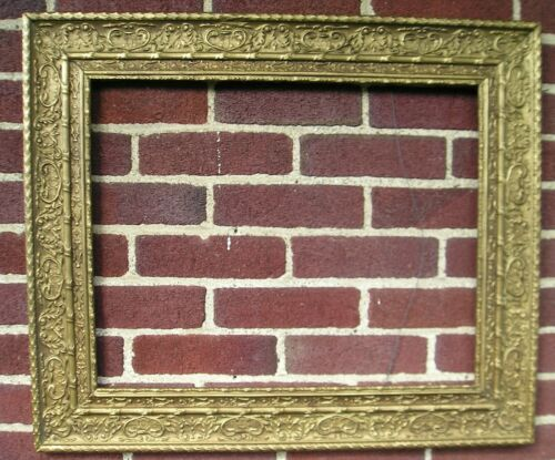 Unusual Antique Aesthetic Victorian Art Crafts Gilt Picture Frame 16 x 20