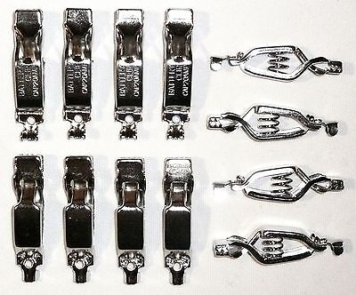 Lot Of 12 Battery Charging Clips 20 Amps Electrical Spring Clamps New