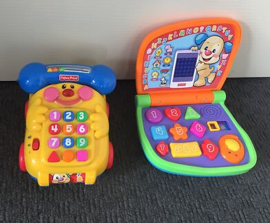 Fisher Price Educational Toy Laptop & Phone. EUC