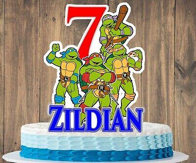 Ninja Turtle Birthday Cake Toppers (Teenage Mutant Ninja Turtle Cake)