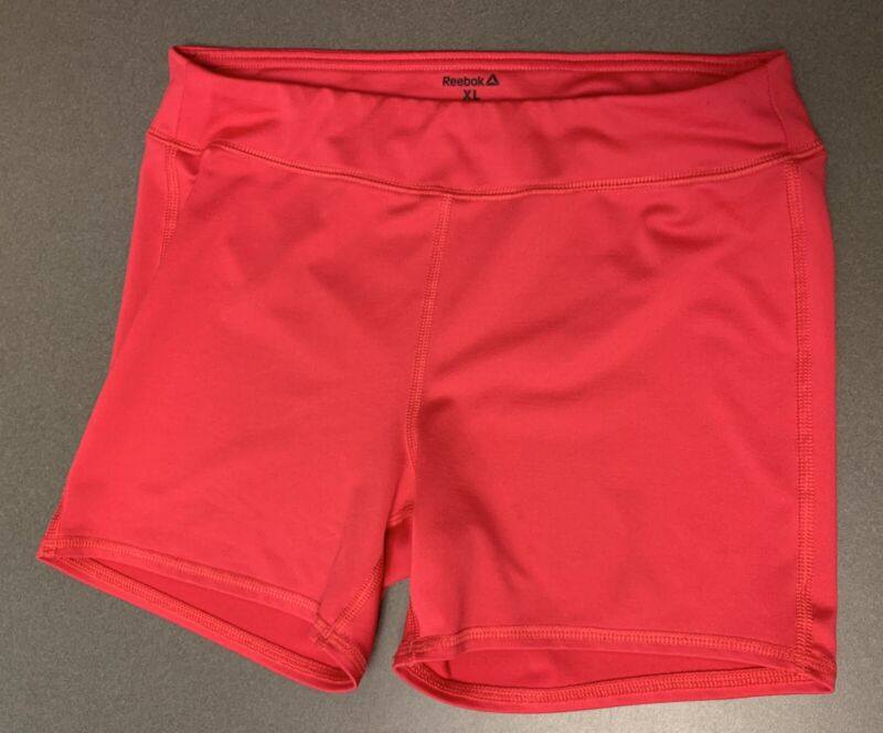Reebok Girls XL (16) Solid Red Fitted Athletic running dance Cheer Shorts