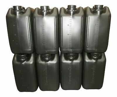 8 X 20L ANTI-GLUG ECO-VENT NEW PLASTIC JERRY CAN CONTAINER BLACK HEAVY DUTY