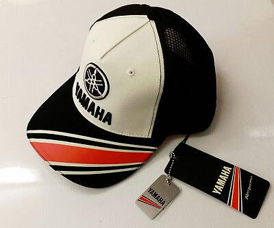 New Genuine Yamaha Baseball Cap Hat Adult Size Black & White Ref. N17AH302W600