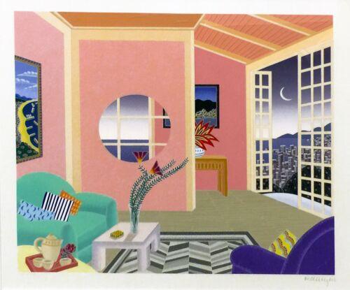 "Thomas Mcknight ""kobe Pink Room"" 1991   Signed Serigraph   Japan   Make An Offer"