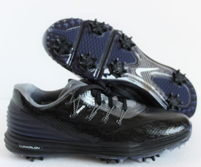 NIKE WOMEN LUNARlon 4 ID GOLF CLEATS BLACK-GREY SZ 6 [843251-992]