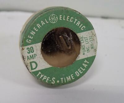 General Electric Lot Of 4 30amp Type S Time Delay Plug Fuse