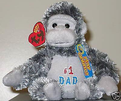 Ty Beanie Baby BB 2.0 ~ POPS the Gorilla (#1 Dad) ~ MWMT'S ~ Stuffed Animal Toy