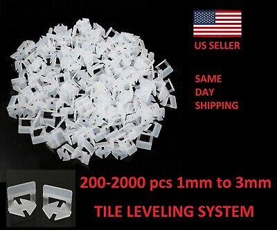 200-1000X Clip Tile Leveling System Kit Floor Wall 1-3mm Tile Spacer Tiling -