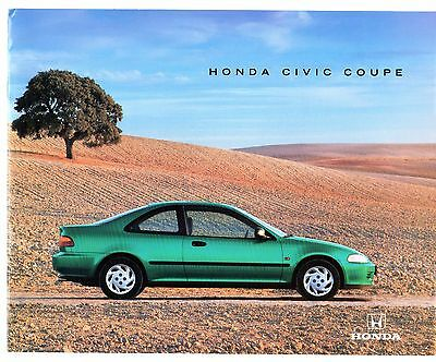 Honda Civic Coupe 1994 UK Market Sales Brochure 1.5i LSi