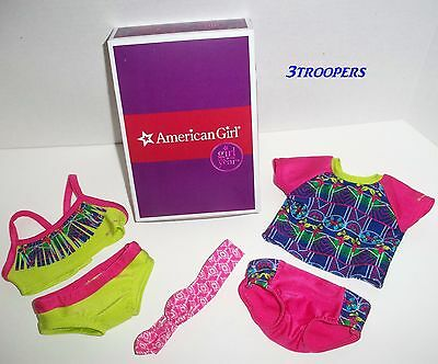 AMERICAN GIRL LEA CLARK MIX AND MATCH SWIM SET NEW WITH BOX