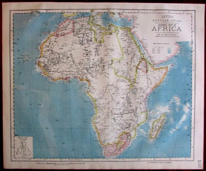 Africa Continent 1883 Lett