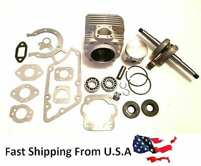 Stihl Ts350 Ts360 08s 49mm Bore Cylinder Kit Overhaul With Crankshaft Us Seller