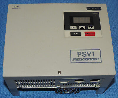 Polyspede 3-hp Ac Drive Vfd Variable Frequency Drive Psv1-31-2 Warranty