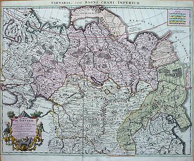 Covens/Mortier: Original kol. Kupferstich Sibirien Russland Tartarei Asien; 1700