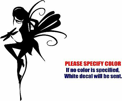 "Fairy with Dragonfly Decal Sticker JDM Funny Vinyl Car Window Bumper Truck 7"""