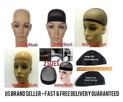 Unisex Stock Mesh/Net Dome Wig Cap Hat Nylon Stretch Elastic Black Nude Beige - Hat Wig