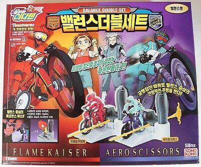 TOMY IDATEN JUMP SERIES : FLAME KAISER & AERO SCISSORS BALANCE DOUBLE SET