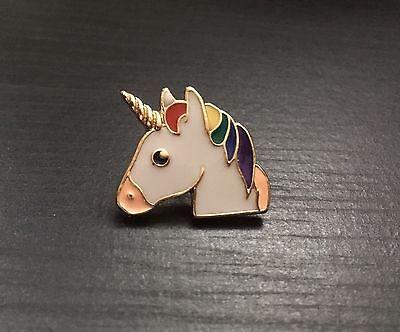 Colourful Unicorn Metal Enamel Pin Badge, Gift, Design 4