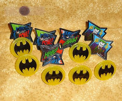 Batman,Pow-Whooshhh,Cupcake Party Rings,Toppers,DecoPac,Multi-Color,Plastic,