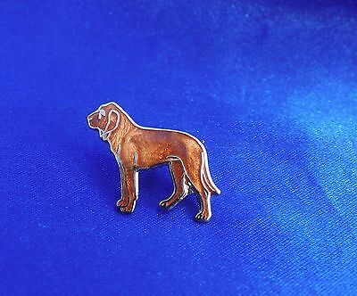 Cloisonne enamel Bloodhound Blood hound Pin vintage Old New Stock Nice! Jewelry*